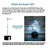 WANTASTE Motocross 3D Lamp Gifts for Boys Girls