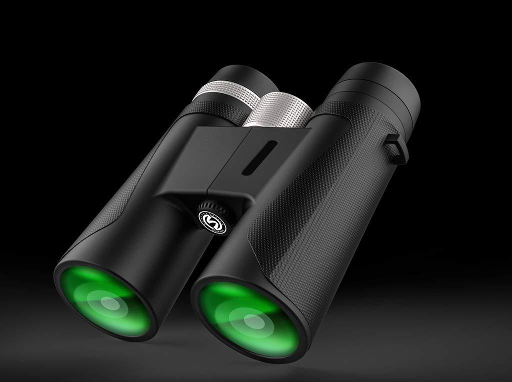 SummarLee 12x42 High Power Binoculars Outdoor Portable Hd Binoculars Travel Appreciation Binoculars by SummarLee