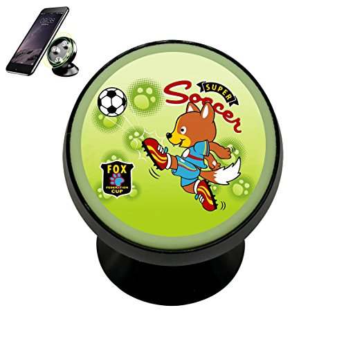 animal-soccer-player-vector-cartoon Magnetic Phone Car Mount Holder Universal 360 Rotation Stand Metal Mobile Phone