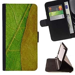 BullDog Case - FOR/Samsung ALPHA G850 / - / Plant Nature Forrest Flower 42 /- Monedero de cuero de la PU Llevar cubierta de la caja con el ID Credit Card Slots Flip funda de cuer