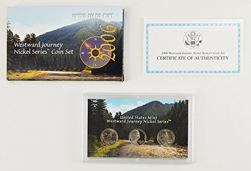 2006 PDS Westward Journey Nickel Series Coin Set in Original Box with COA (Lewis And Clark Nickel)