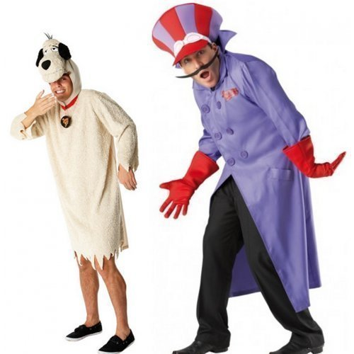 Couples Mens Dick Dastardly & Muttley Costume Set
