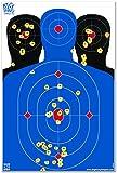 12 x 18 Triple Silhouette Reactive Splatter Shooting Target - Big Dawg Targets
