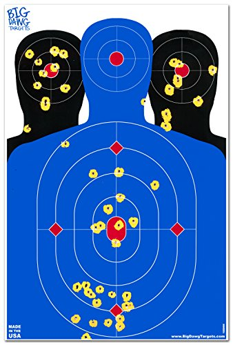 - 25 Pack - 12 x 18 Triple Silhouette Reactive Splatter Shooting Target - Big Dawg Targets