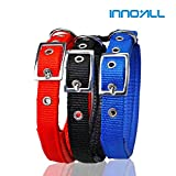 INNO+ALL, Adjustable comfortable foam nylon collar for Pet Dog Cat Puppies (S, Red)