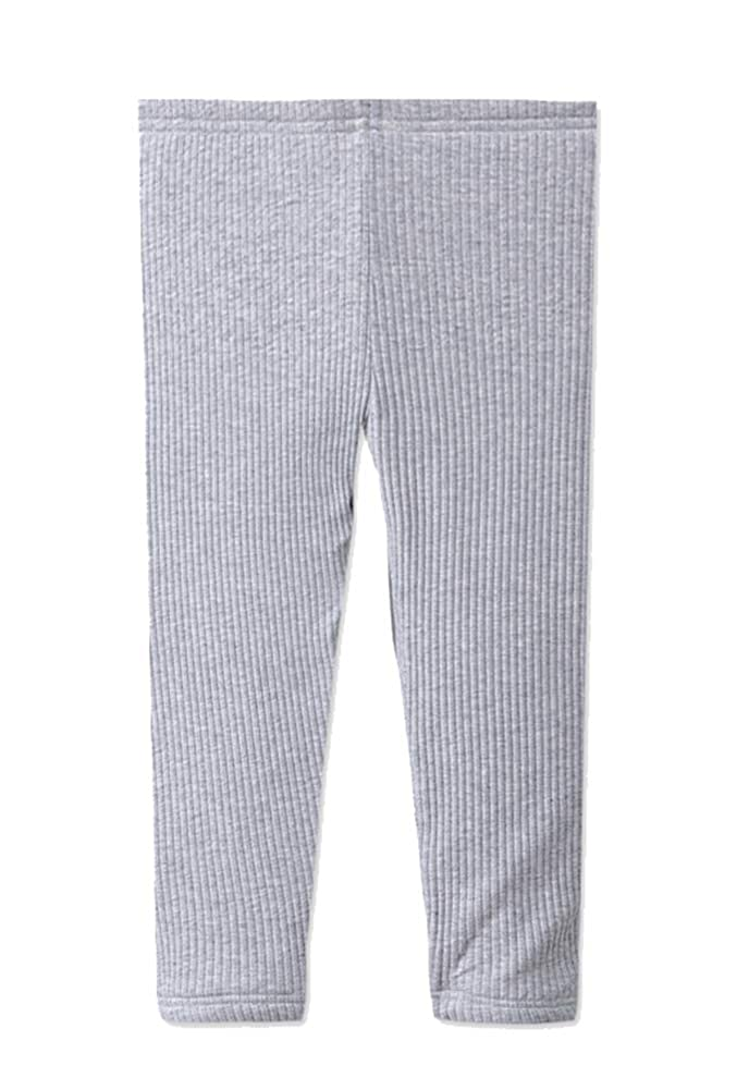 AGOWOO Kids Girls Boys Long Johns Thermal Underwear Set Polar Fleece Grey 4