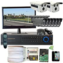 GW Security Inc. 8CHH4 8-Channel HD-SDI High Definition DVR Security Camera System (Black/White)