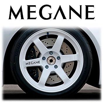 Renault Megane Alloy 4 x Llanta decorativo para llantas Wheels Stickers Decals Graphics X4: Amazon.es: Coche y moto