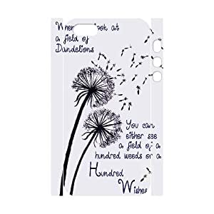 DIY 3D Cover Case for iPhone 5,iPhone 5s w/ Dandelion image at Hmh-xase (style 1)