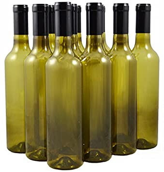 Plástico Botellas de vino y tapones de rosca, 750 ml - pack de 12: Amazon.es: Hogar