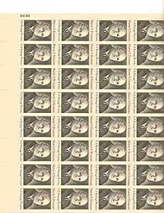 Harry S. Truman Sheet of 32 x 8 Cent US Postage Stamps Scott 1499