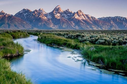 rehds 5dダイヤモンドラインストーングランドティトン国立公園風景画DIYダイヤモンド絵画キット   B077J2916T