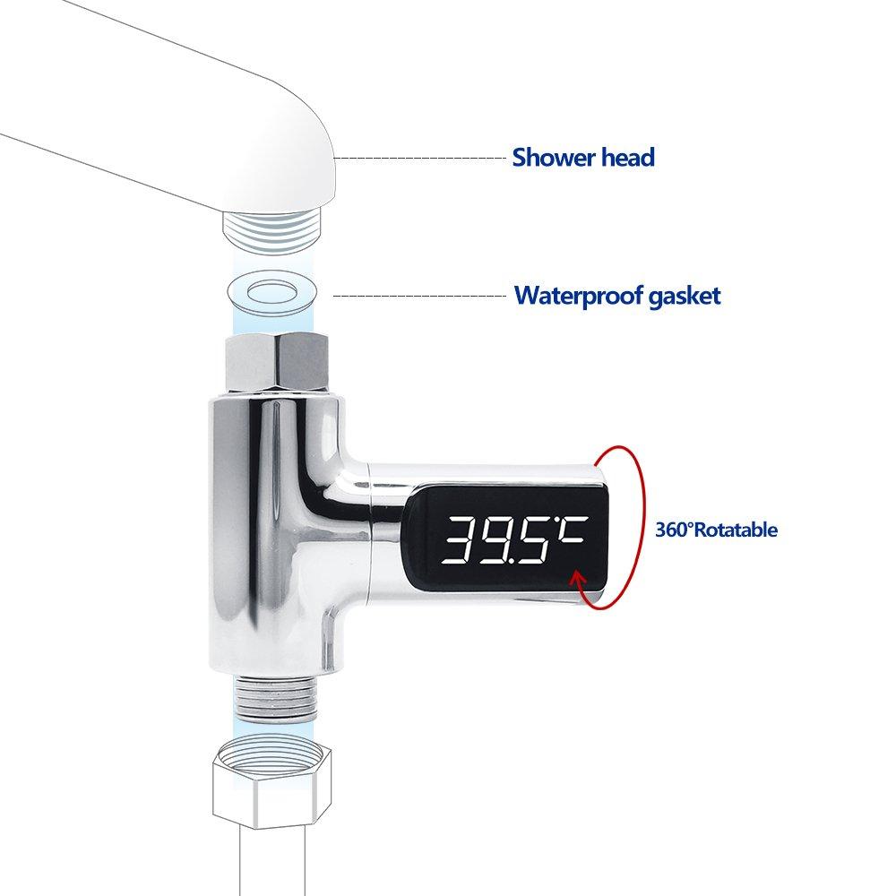 Badethermometer KWOKWEI Badethermometer mit Led Display ...
