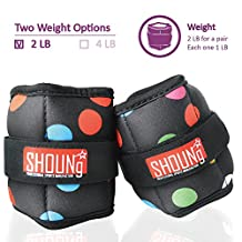 SHOUNg Personalised Ankle Weights / Wrist Weights with Adjustable Strap ( 1-10 LBS )