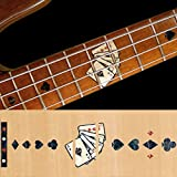 For BASS Fretboard Markers Inlay Sticker Decals - Playing Card-BP