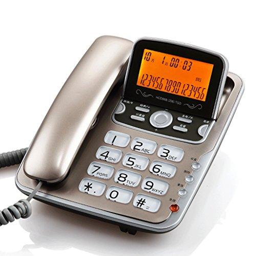 Speakerphone 2 Hotel Line (Corded Phone with Caller ID/Speakerphone Extra-Large Tilt Display/Landline Phone Backlit Display/Buttons (Color : 2#))