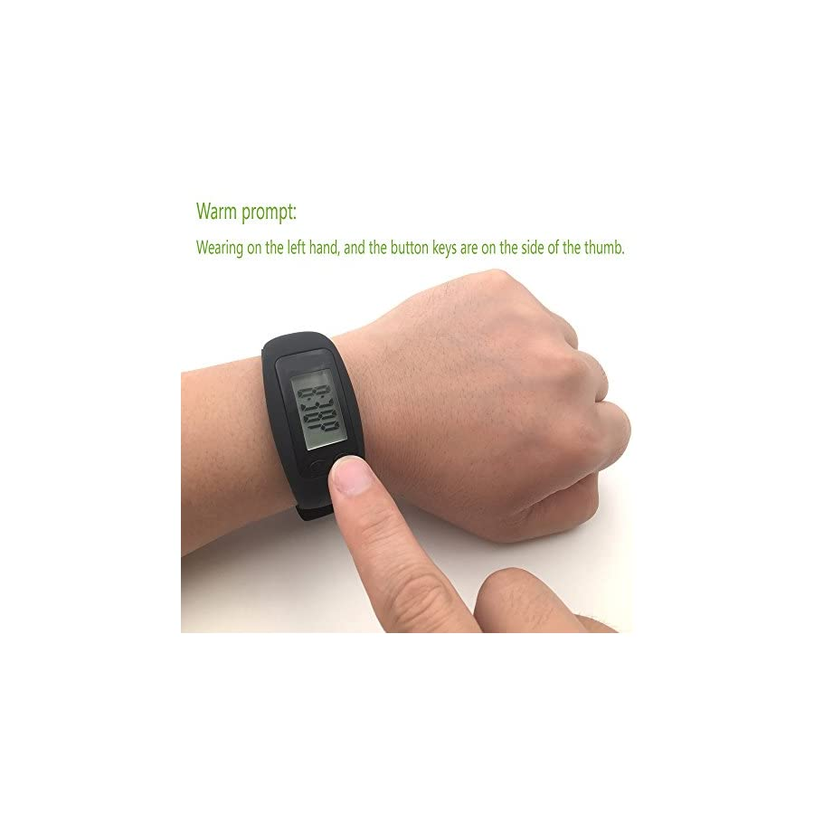 Pedometer, Fitness Bracelet Wristband for Running Walking Distance Step Fitness Tracker by KeagTech