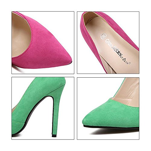 Night peach Candy's Heel High Thin Pointed Shoes Club Color Thin 40 wRqztEn4xX