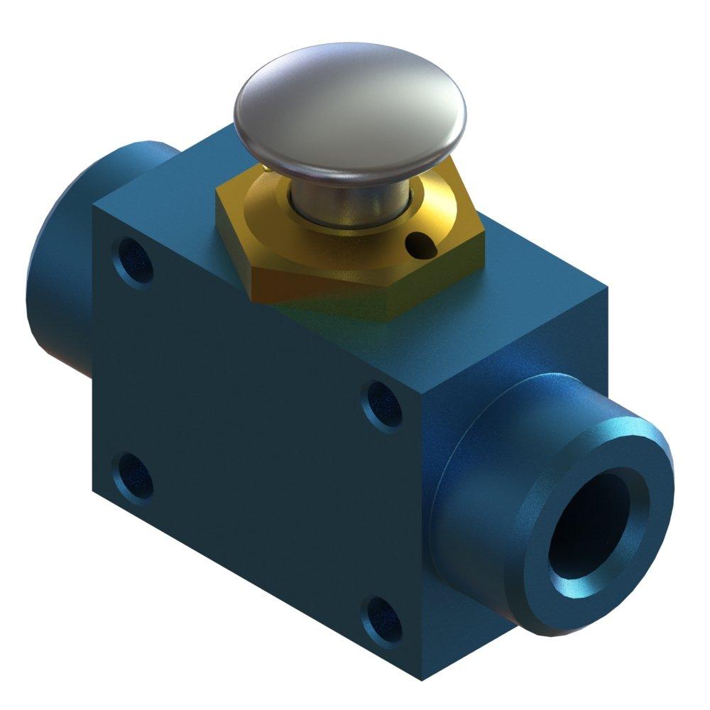 Air-Mite 3-Way Miniature Control Valve with Push Button Actuator