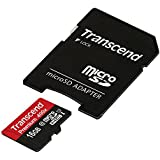 Transcend 16GB Micro SDHC Premium 400x UHS-I Memory Card with Adapter (TS16GUSDU1)