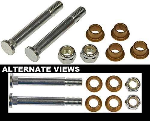 APDTY 49585 Door Hinge Pin And Bushing Kit - 2 Pins, 4 Bushings And 2 Nuts (Titan Hinge Pin Kit)