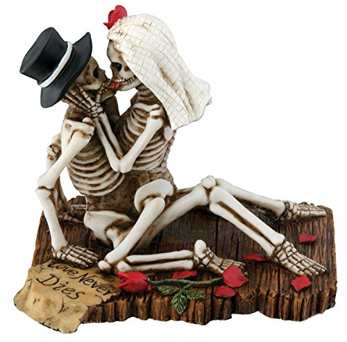 Love Never Collectible Skeleton Sculpture