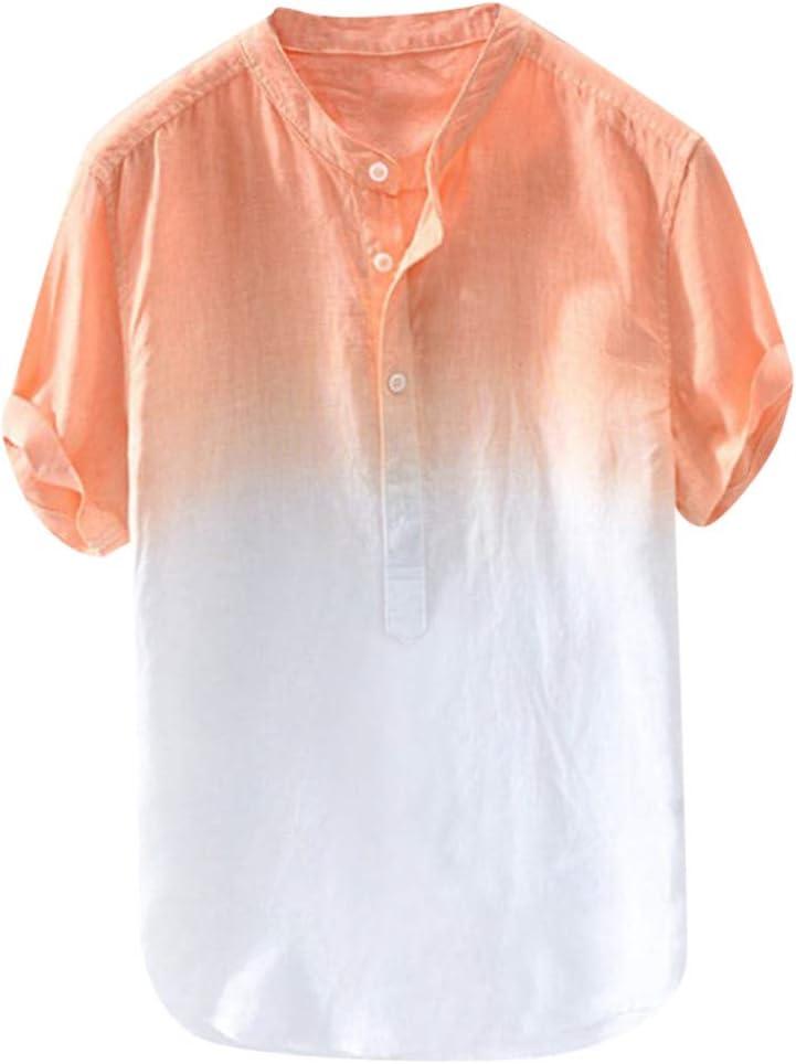 ZODOF Camisa Hawaiana con Estampado de Lino y algodón de Manga Corta étnica para Hombre Moda Suelta Blusa con Cuello Vuelto de Playa Simple Summer Street Tops Camiseta: Amazon.es: Instrumentos musicales