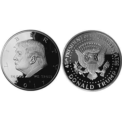 Donald Trump Challenge Coin 2017 - Silver Plated Collectable Coin in The Commemorative Collectors Edition Series. Stunning Proof Like Coins. Designer Coin Presidential M (2017 Silver)