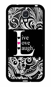 Black Live Love Laugh 2-Piece Dual Layer Phone Case Back Cover Samsung Galaxy S4 I9500