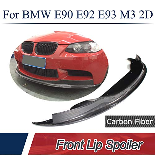 2009 Custom Style Spoiler - JC SPORTLINE fits BMW 3 Series E90 E92 E93 M3 Bumper 2008-2014 Carbon Fiber Front Chin Spoiler Factory High End Custom Lip(ARKYM Style)