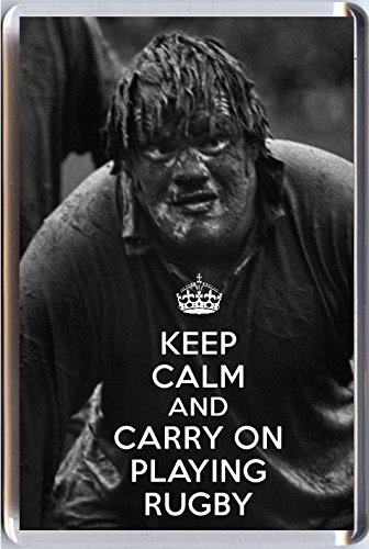 - Yummy Grandmummy Keep Calm And Carry On Playing Rugby Novelty Fridge Magnet With A Picture Of A Muddy British Lions Player.