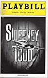 Sweeney Todd The Demon Barber of Fleet Street Playbill for the 2005 Broadway Revival, Directed/Designed by John Doyle, Starring Patti LuPone and Michael Cerveris - Eugene O'Neill Theatre - May 2006