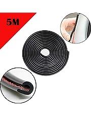 Car edge Protector Strip 5M car edge trim rubber seal protector U-shaped car protection door edge protector, Fit for SUV Sedan MPV and Most Models (Black)
