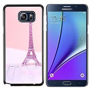 Stuss Case / Funda Carcasa protectora - Eifel de París Pink Peach Francia - Samsung Galaxy Note 5
