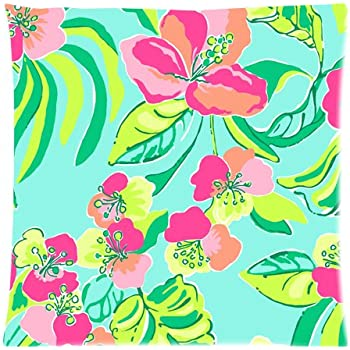 lilly pulitzer custom zippered pillow case cover cushion case 18x18 inch two sides