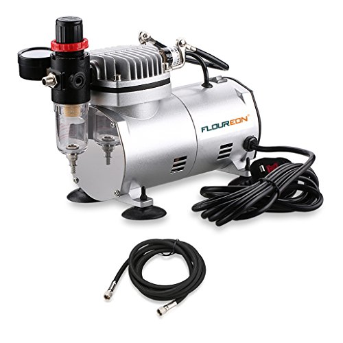 Floureon AS18-2 Airbrush Compressor Air Brush Spray Gun Kit for Craftwork...