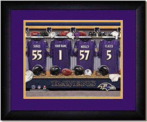 Baltimore Ravens Team Locker Room Personalized Jersey Officially Licensed NFL Sports Photo 11 x 14 Print