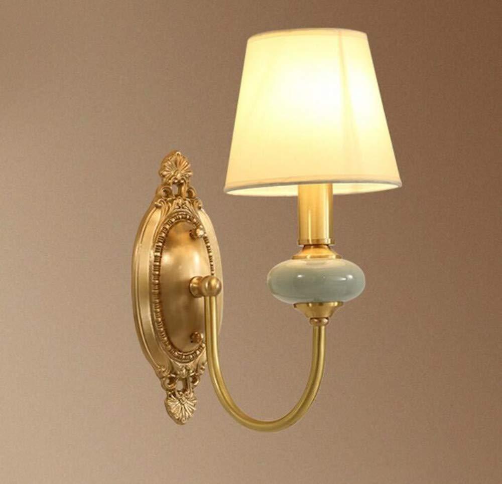 Kronleuchter Kronleuchter Kunst-Lampen Retro Hängelampe Deckenleuchte Amerikanische Nachttischlampe Kupfer Wohnzimmer Lampe Schlafzimmer Flur Flur Keramik Kupfer Wandleuchte (Größe  B)