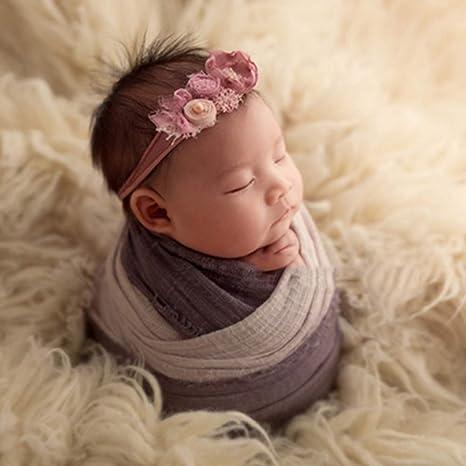 Baby Fotografie Props Baby Fotoshooting Wrap Newborn Foto Photo Babyfotografie Requisiten 100 x 200CM Rann.Bao Neugeborene Photography Decke