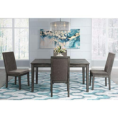 ings Austin 5 Piece Extendable Dining Set in Gray ()