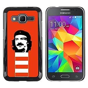 Be Good Phone Accessory // Dura Cáscara cubierta Protectora Caso Carcasa Funda de Protección para Samsung Galaxy Core Prime SM-G360 // Funny Rebel Face