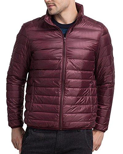 Weight Jacket Light Short Wine Jacket Packable Red Down Puffer Down Mens gwR4qR