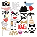 Photo Booth Props Funny DIY Kit for Wedding Party Reunion Birthday Decorations Costume Dress-up Accessories Doubtless Bay