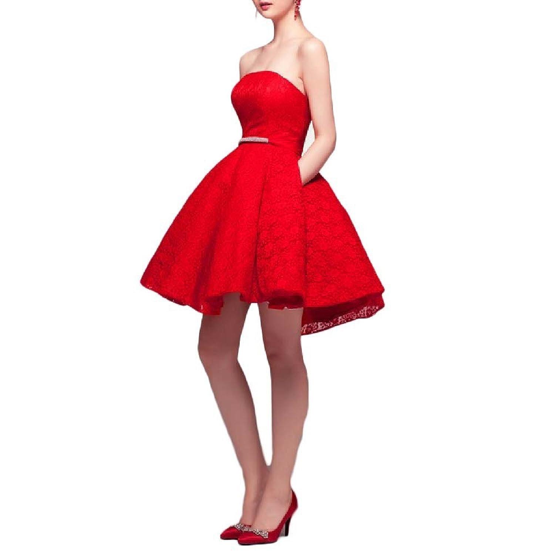 OYISHA Women's 2016 Strapless Prom Dress A-line Homecoming Dresses Sash 5HC