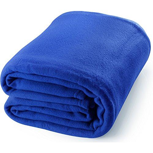 Queen Polar Fleece Blanket Navy Lightweight