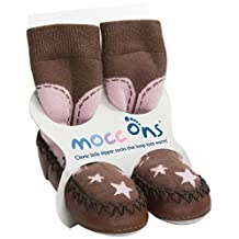 Mocc Ons Cute Moccasin Style Slipper Socks (6-12 Months, Cowgirl)