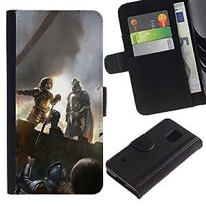 YiPhone /// Tirón de la caja Cartera de cuero con ranuras para tarjetas - Peter Dinklage - Samsung Galaxy S5 V SM-G900