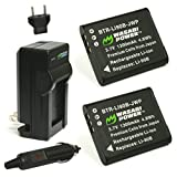 Wasabi Power Battery (2-Pack) and Charger for Olympus LI-90B, LI-92B and Olympus SH-1, SH-50 iHS, SH-60, SP-100, SP-100EE, Tough TG-1 iHS, Tough TG-2 iHS, Tough TG-3, XZ-2 iHS