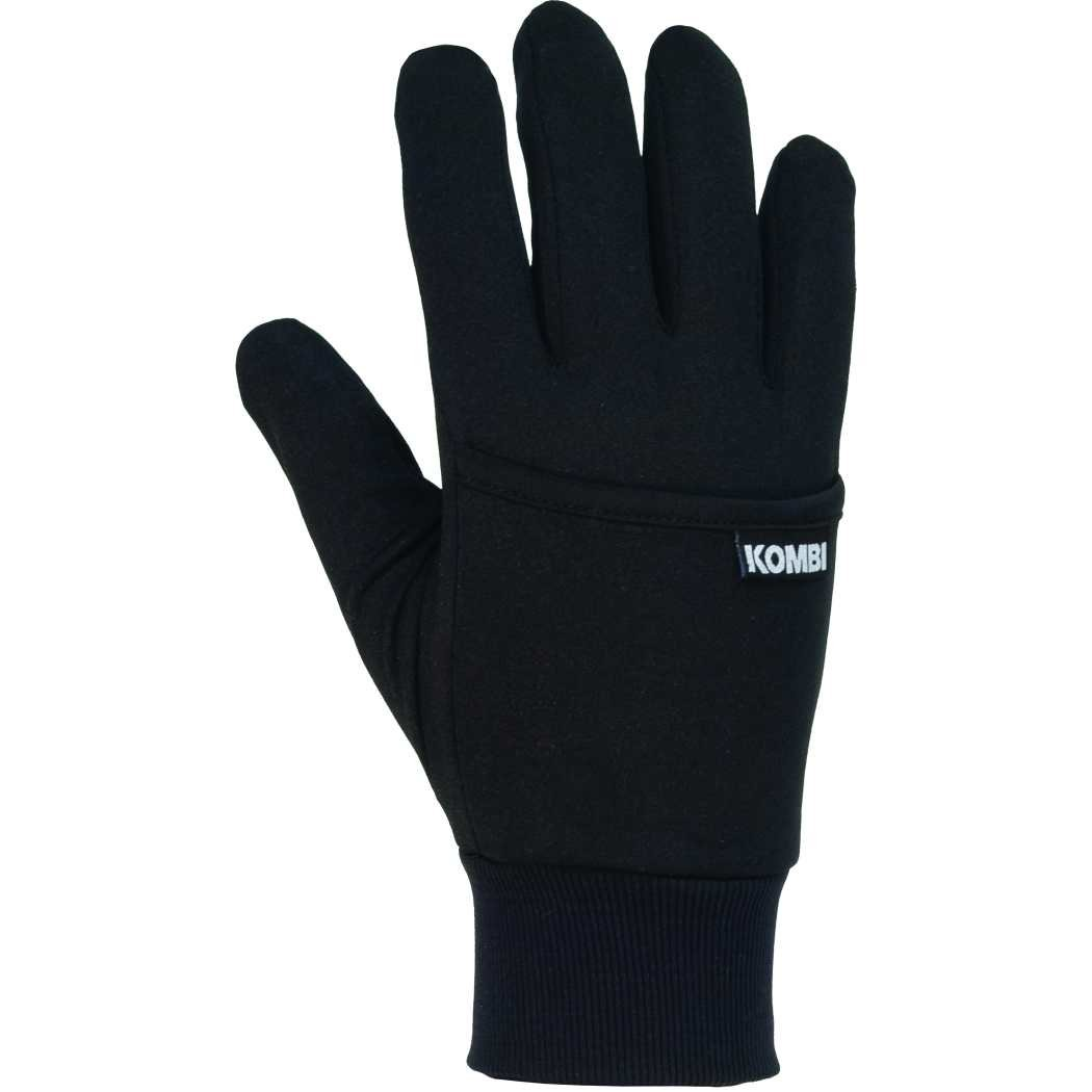 Kombi Kanga Glove Liner- Black MEDIUM