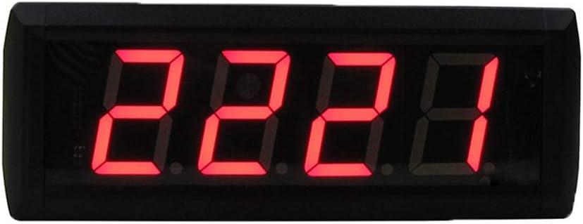 スポーツタイマー 多機能 会議用カウントダウンクロックカウントダウンタイミング分秒リモートコントロール付きウォールクロック (色 : ブラック, サイズ : 29X10X4CM) ブラック 29X10X4CM